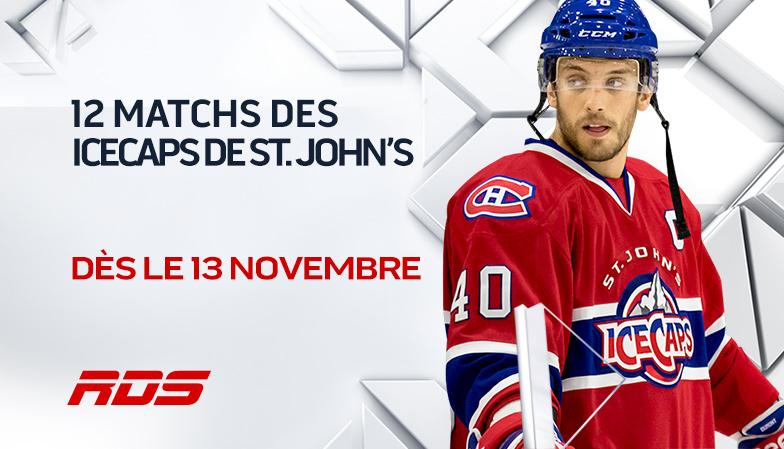 Hockey de la Ligue américaine : RDS présentera 12 matchs des ICECAPS de St. John's
