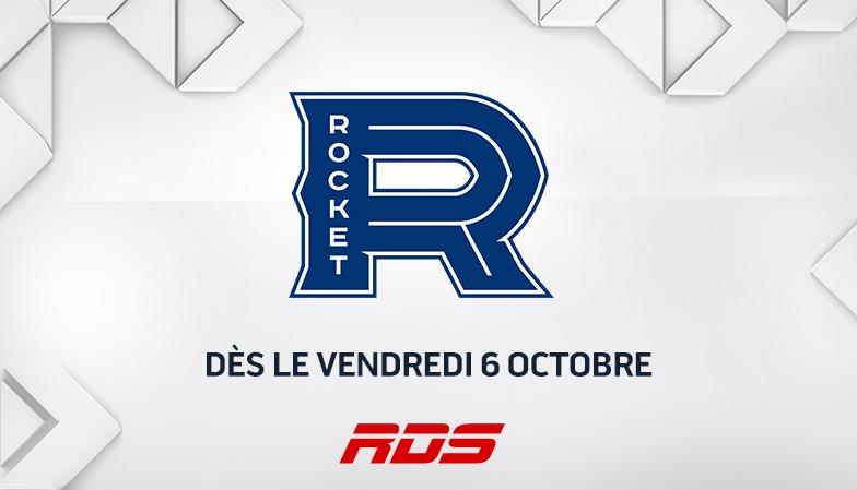 HOCKEY DE LA LIGUE AMÉRICAINE : RDS présente 16 matchs du ROCKET DE LAVAL
