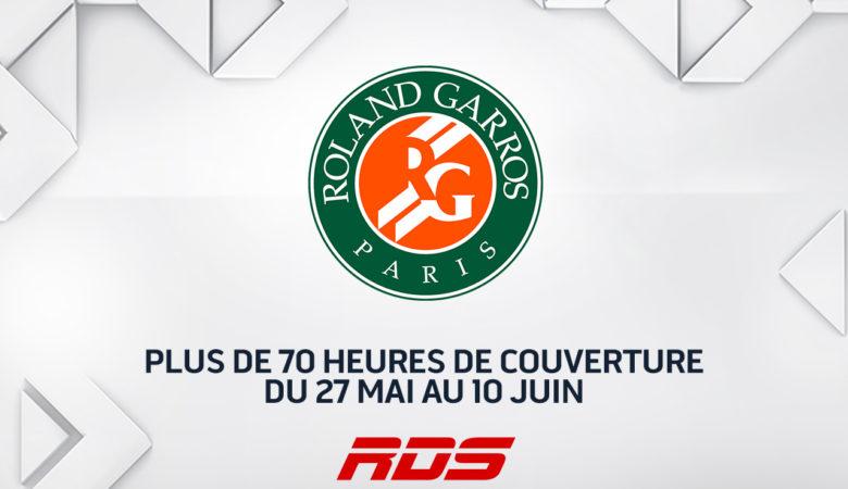 Roland-Garros : plus de 70 heures de couverture des INTERNATIONAUX DE FRANCE sur RDS du 27 mai au 10 juin