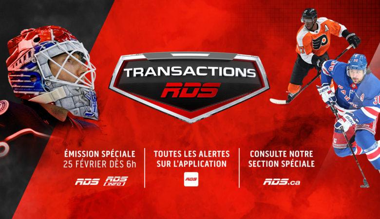 RDS en mode #Transactions2019 ce lundi 25 février dès 6 h
