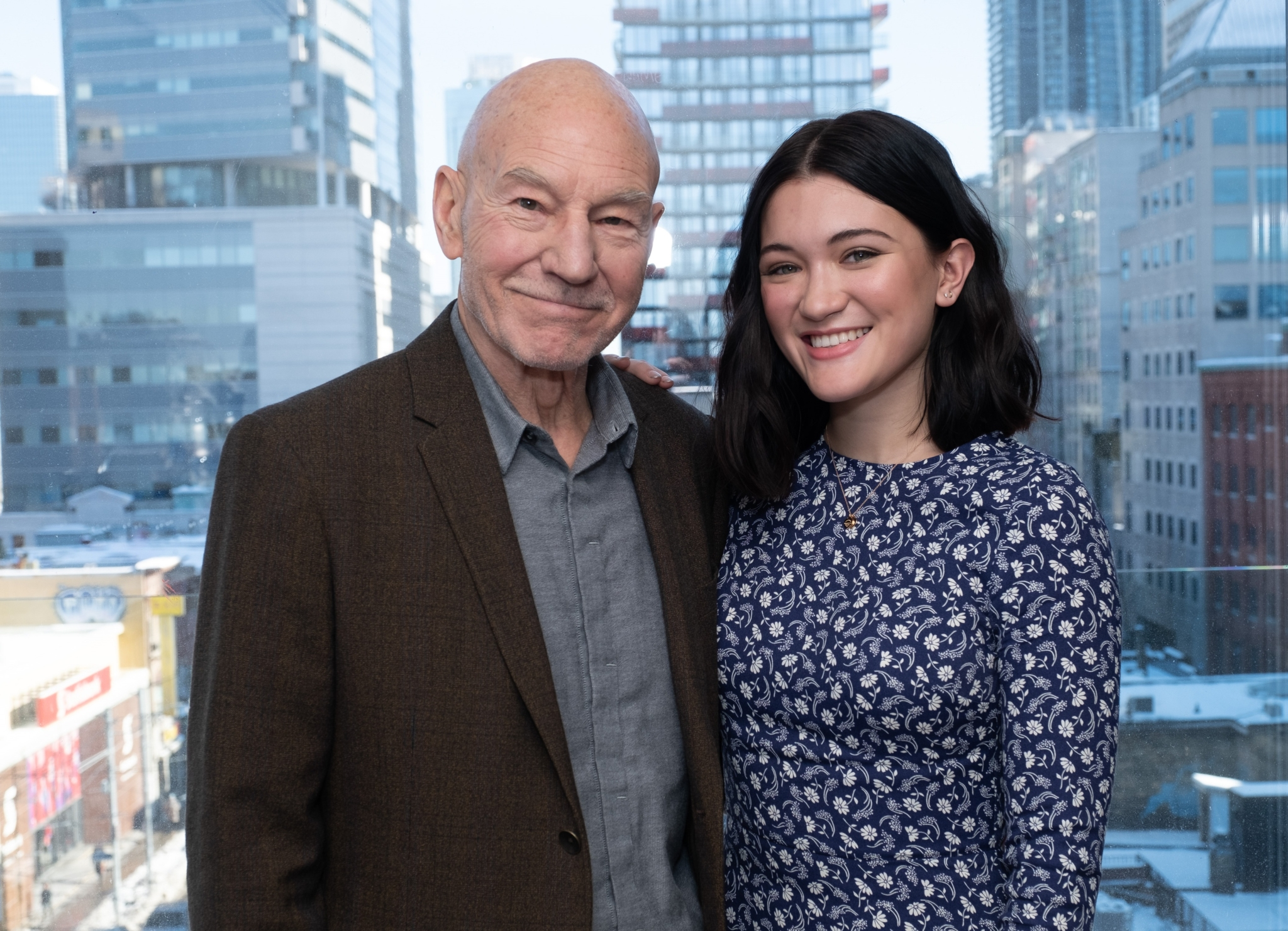 Sir Patrick Stewart and Isa Briones Pump Up Bell Media Studios for the Highly Anticipated Debut of STAR TREK: PICARD