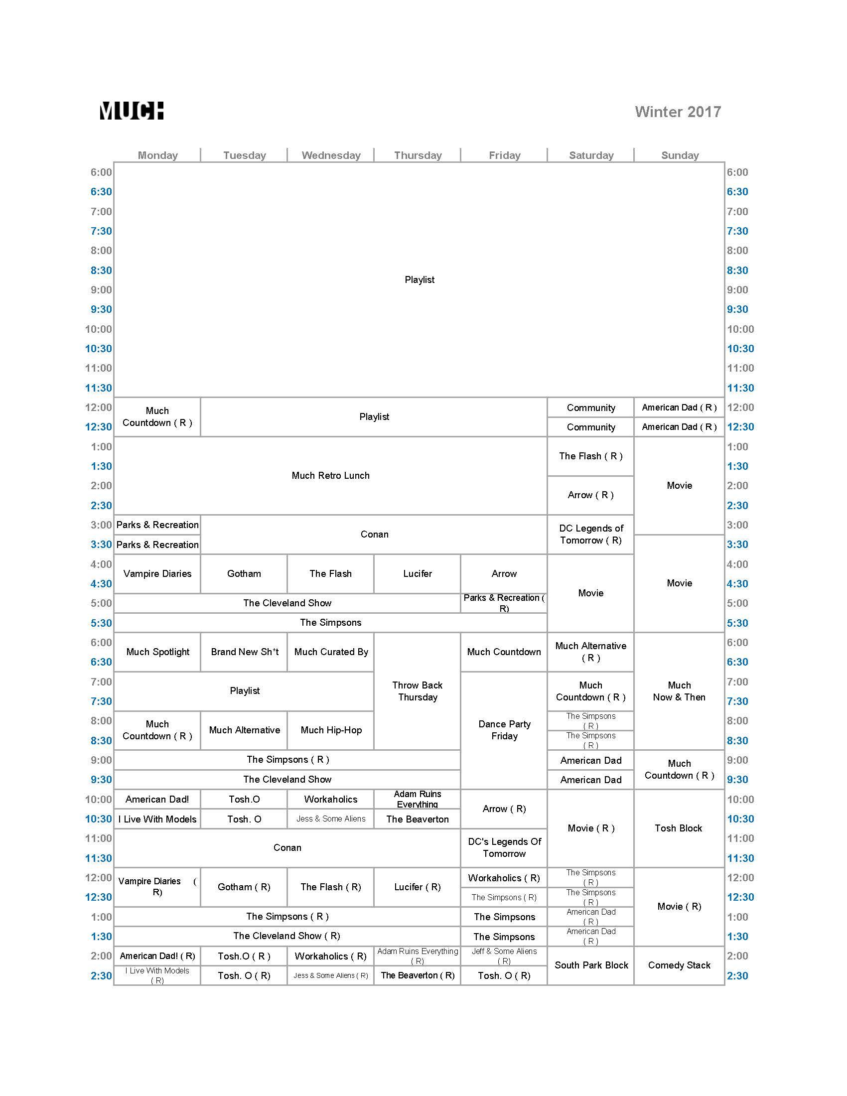 Much - Winter 2017 (Jan)
