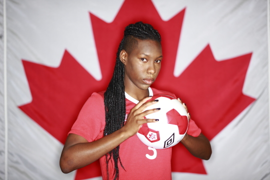 Canada's World Cup Women's soccer team portraits