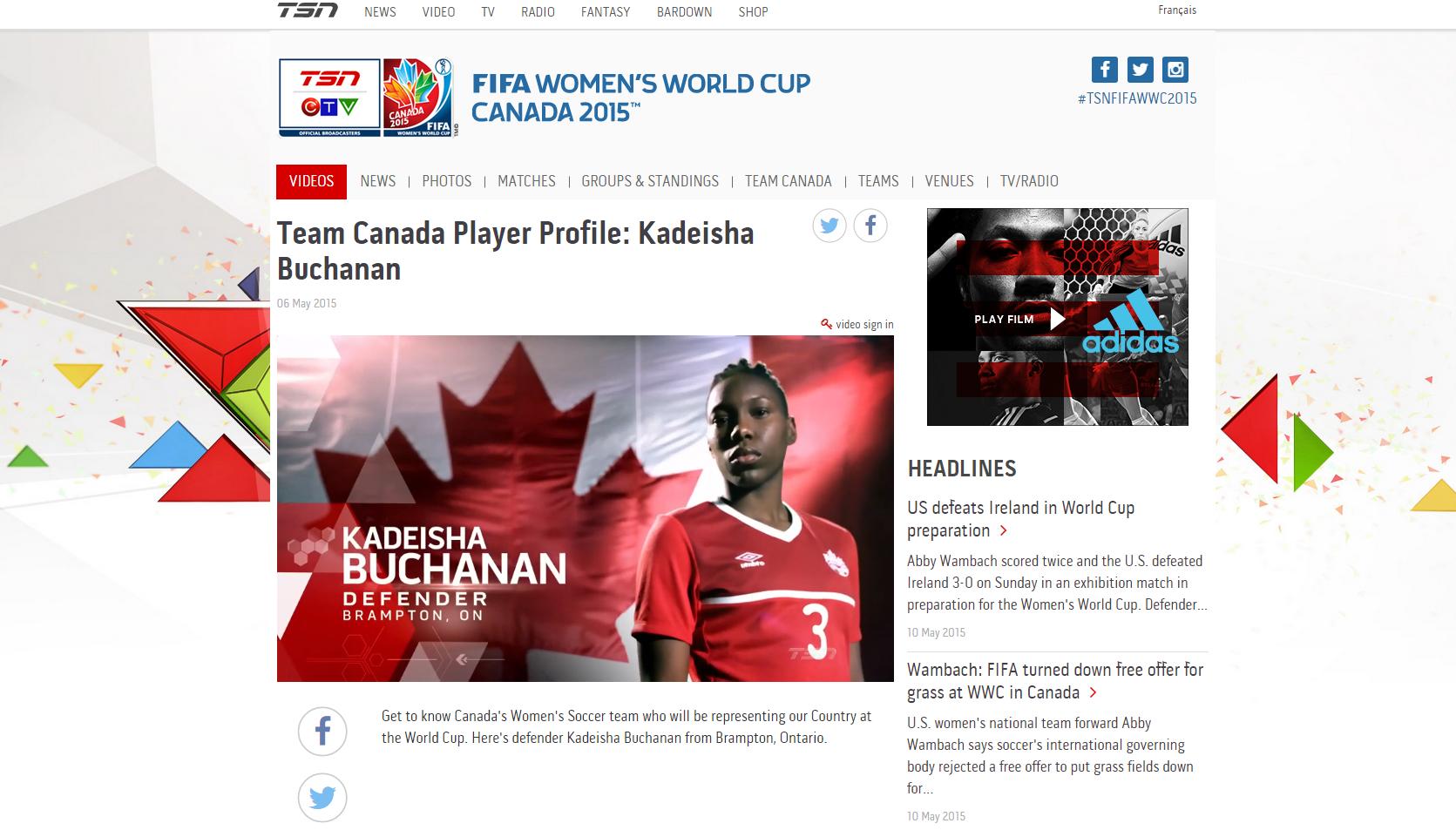TSN.ca/FIFA is TSN's new digital hub for this summer's FIFA WOMEN'S WORLD CUP CANADA 2015™