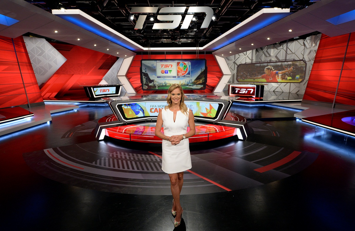 TSN's Jennifer Hedger hosts in-studio coverage from the network's new set during the FIFA WOMEN'S WORLD CUP CANADA 2015™. DOWNLOAD PHOTO HERE: http://bit.ly/1KJYqIv