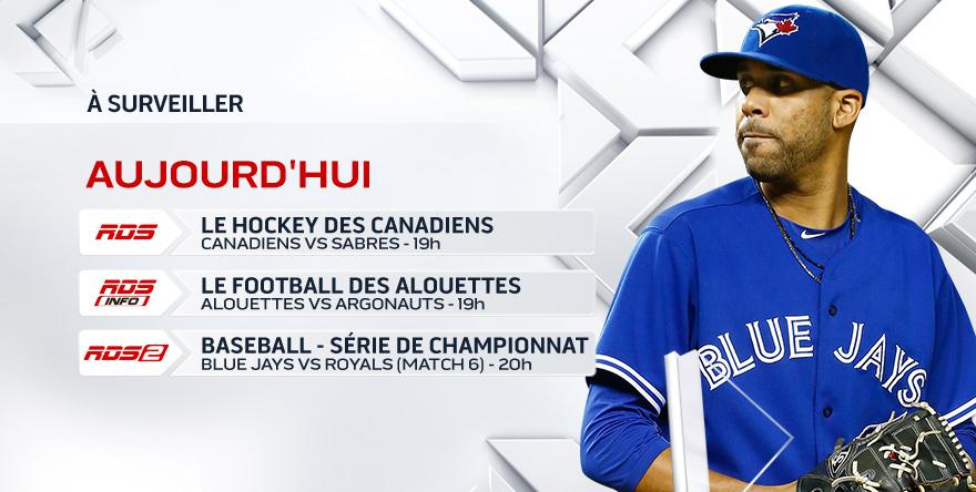 Alouettes, Blue Jays et Canadiens : de grands rendez-vous sportifs sur les trois chaînes de RDS ce soir