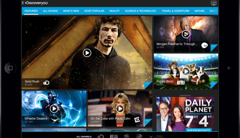 Discovery GO Launches with Canada's Most-Watched Entertainment Specialty Programming Available Anywhere, Anytime