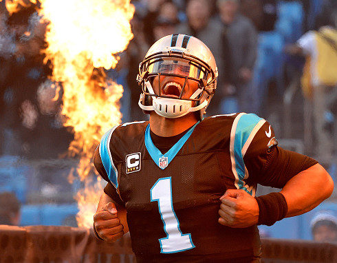 CHARLOTTE, NC - JANUARY 03:  Cam Newton #1 of the Carolina Panthers takes the field against the Tampa Bay Buccaneers at Bank of America Stadium on January 3, 2016 in Charlotte, North Carolina.  (Photo by Grant Halverson/Getty Images)