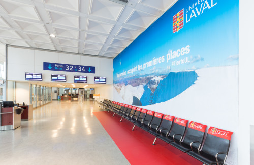 Astral Out-Of-Home Product - Québec City Jean-Lesage International Airport