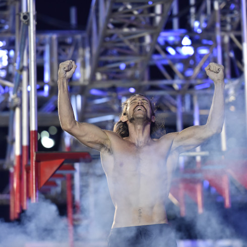 "AMERICAN NINJA WARRIOR -- ""Las Vegas Finals"" -- Pictured: Isaac Caldiero -- (Photo by: David Becker/NBC)"