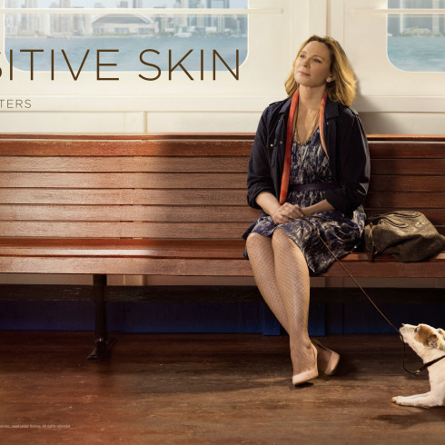 Kim Cattrall in key art for SENSITIVE SKIN Season 2