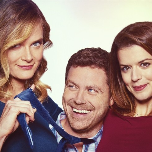 L-R: Rachel Blanchard, Greg Poehler, and Priscilla Faia in YOU, ME, HER