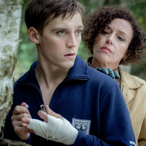 Jonas Nay and Maria Schrader in DEUTSCHLAND 83