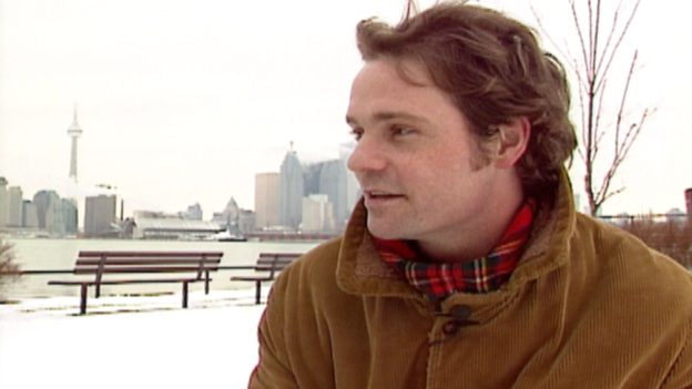 Gord Downie during an interview with MuchMusic in 1993