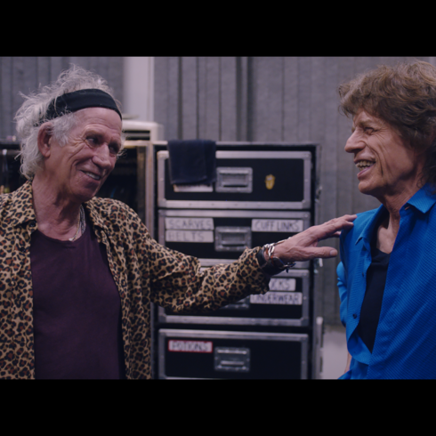 Keith Richards and Mick Jagger in THE ROLLING STONES OLÉ OLÉ OLÉ!: A TRIP ACROSS LATIN AMERICA