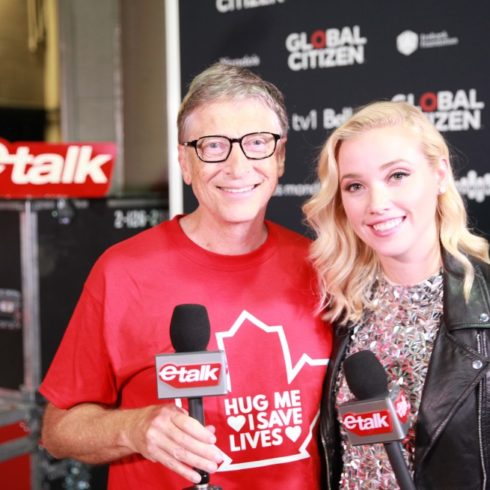 Liz Trinnear and Bill Gates - Global Citizen - ETALK