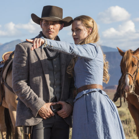 James Marsden and Evan Rachel Wood in HBO's WESTWORLD