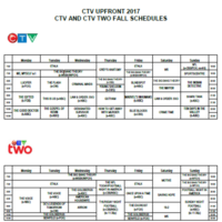 CTV and CTV Two Prime Schedules