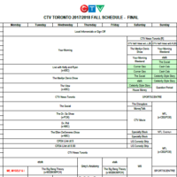 CTV National Schedules by Province