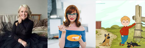 (Clockwise from top left: Jann Arden stars in new CTV original comedy series, JANN; Mary Berg, star of new original Gusto series MARY MAKES IT EASY; based on smash-hit LETTERKENNY, LITTLEKENNY becomes SnackableTV's first original program)