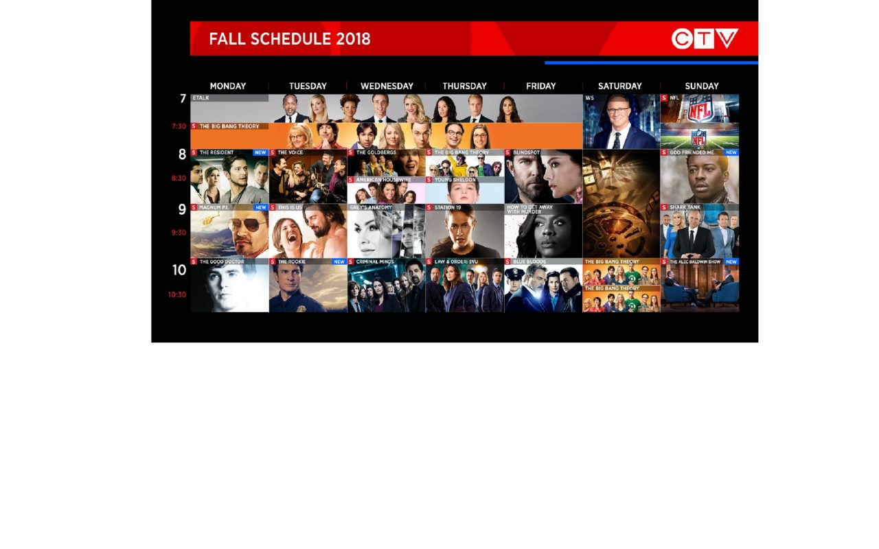 Stories Start Here: CTV\'s 2018/19 Schedule Gains Strength as ...