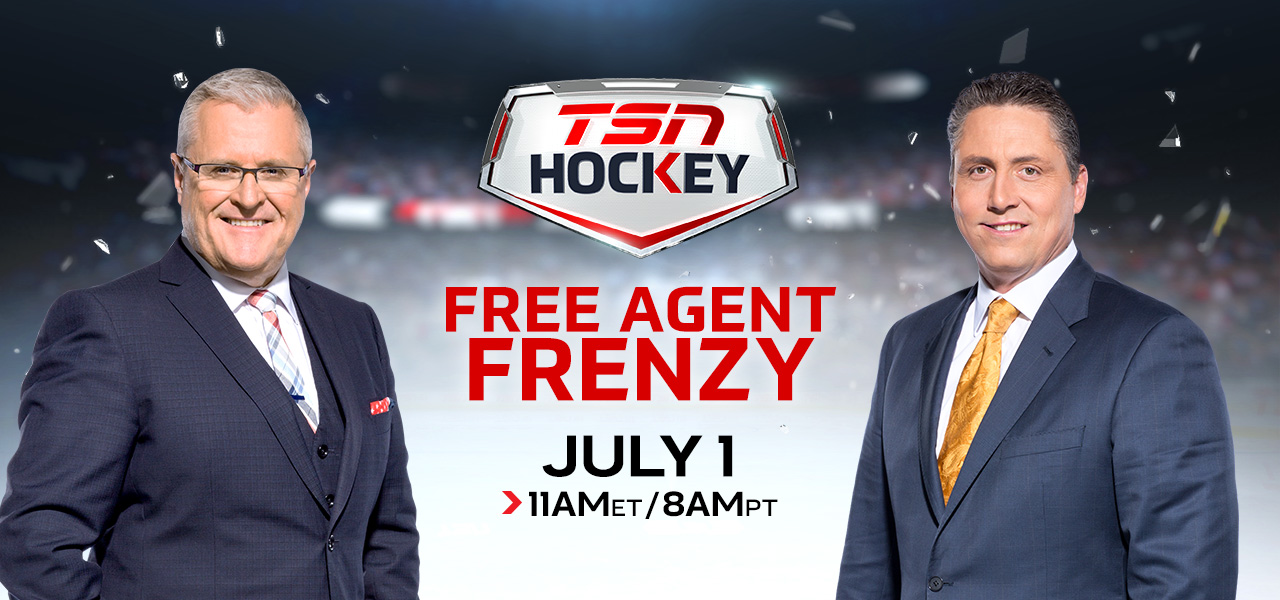 Tsn S 12th Annual Free Agent Frenzy Kicks Off First Day Of Nhl Free