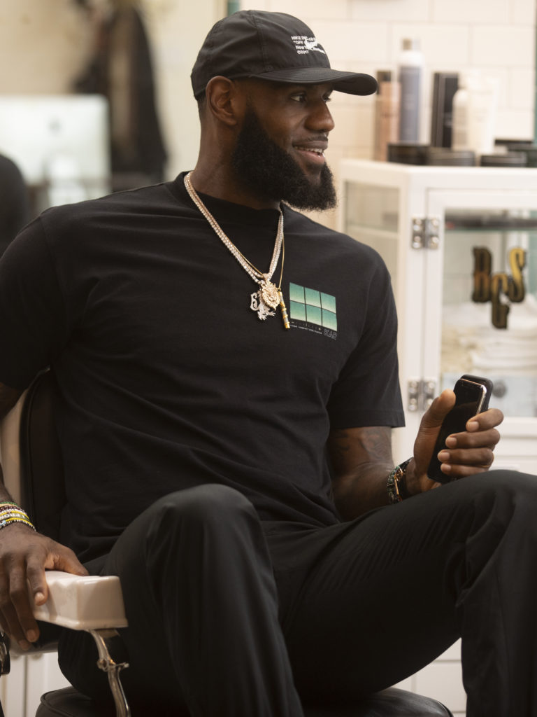 adf9aca2c4a8 Drake and LeBron James Share Barber Chairs and Retirement Advice on HBO s  THE SHOP