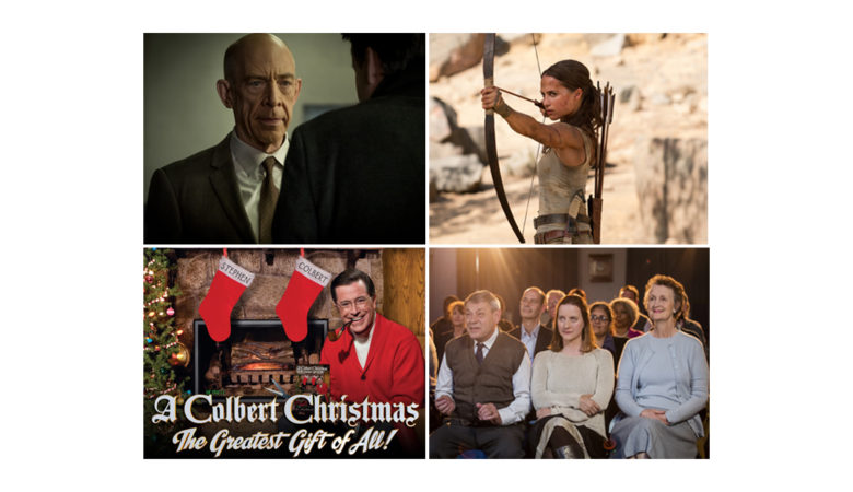 Crave Highlights for December: New Season of COUNTERPART, Holiday Programming, and Tomb Raider, Ready Player One, Blockers, and Life of the Party