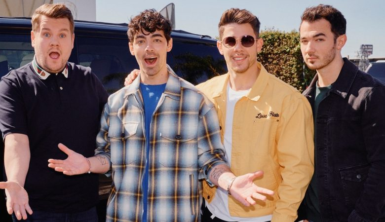 "THIS JUST IN: JONAS BROTHERS REUNITE WITH HELP FROM JAMES CORDEN, CONFIRM NEW SINGLE, ""SUCKER""; BAND WILL TAKE OVER ""THE LATE LATE SHOW WITH JAMES CORDEN,"" WEEK OF MARCH 4-7"