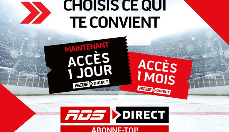 RDS Direct et TSN Direct : l'ACCÈS 1 JOUR à 4,99$ maintenant disponible !